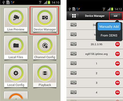 Функции приложения iDMSS Plus добавление устройства