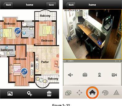 Просмотр камеры через электронную карту.