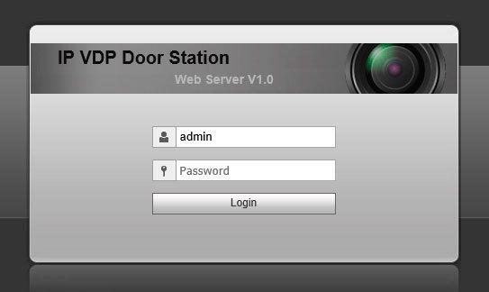 DHI-VTO2111D-WP подключение через веб-интерфейс