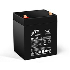 RITAR RT1250, Black 12V 5.0Ah
