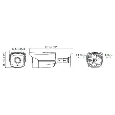 Hikvision DS-2CE16H0T-IT5F (3.6 мм), 3.6 мм, 80°