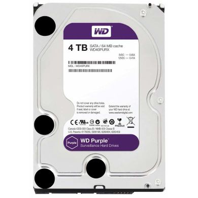 Western Digital Purple 4TB 64MB WD40PURX 3.5 SATA III